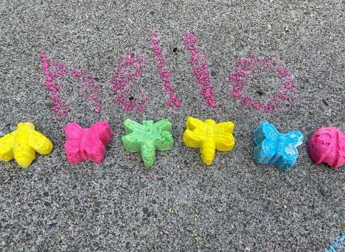 DIY Sidewalk Chalk - Flower Bundle