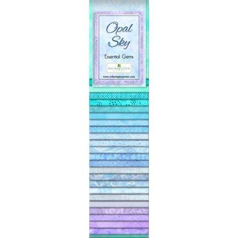 Quilting Strip Packs- Essential Gems, Opal Sky