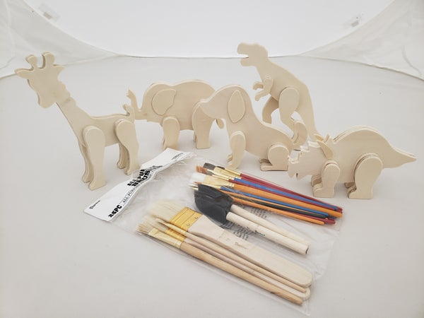 Animals Wood Painting Kit