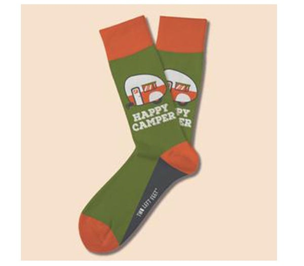 Two Left Feet- Happy Camper Sock (Choose from Two Sizes)