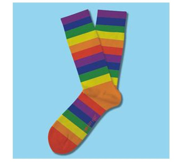 Two Left Feet- Color Me Rainbow Sock (Choose from Two Sizes)