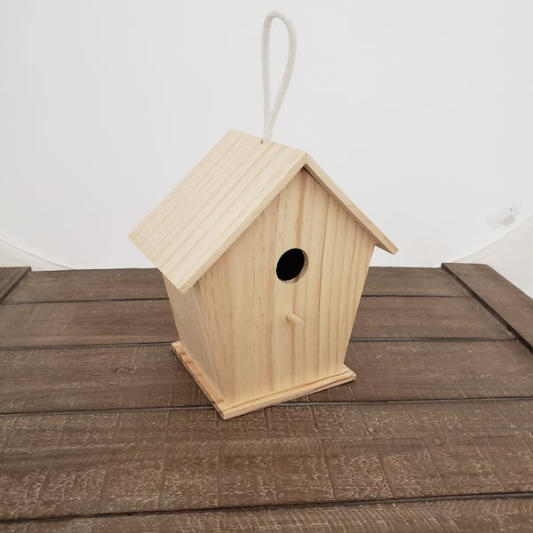 Unfinished Wood Birdhouse