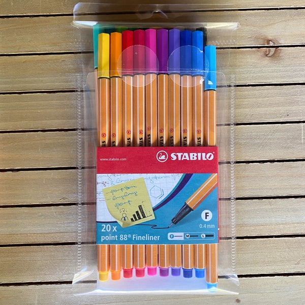STABILO Point 88 Fineliner Pens 0.4mm, 20 pcs