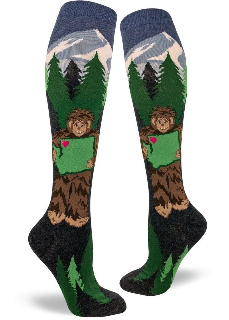 Sasquatch Loves Washington Knee Socks