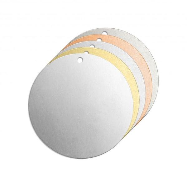 ImpressArt- 1 inch Circle w/Hole, Stamping Blank