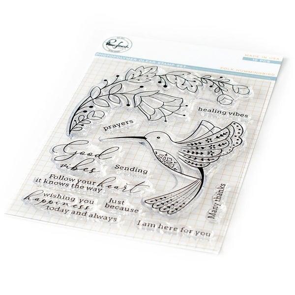 Pink Fresh Studios- Folk Humming Bird Stamp Set