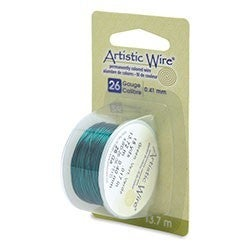 Artistic Wire- 26 Gauge = Green, 15 yd