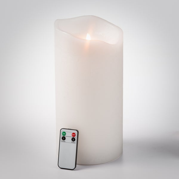 6 inch x 12 inch Pillar LED Candle with remote