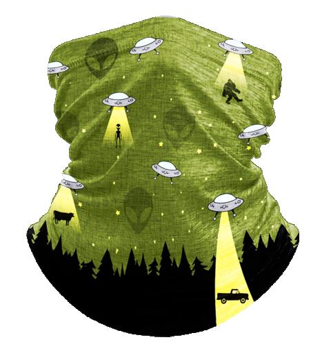 Neck Gaiter UFO Bigfoot, Face Cover