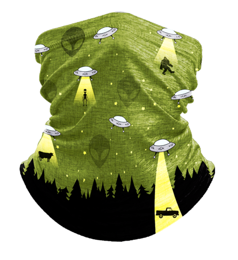 Neck Gaiter UFO Bigfoot, Face Cover