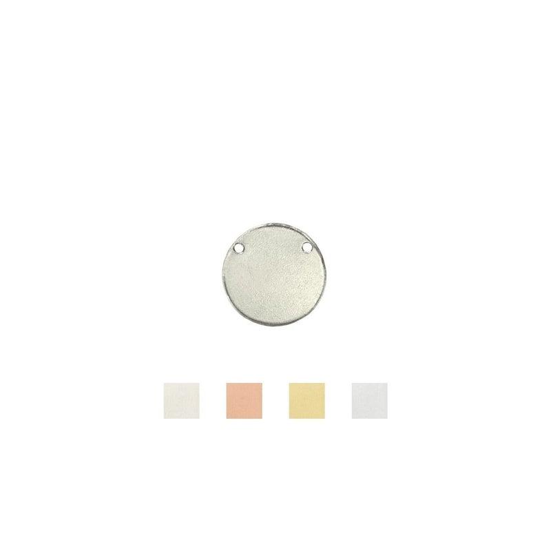 ImpressArt- Circle w/ 2 Holes 9/6 inch Aluminum, Stamping Blanks