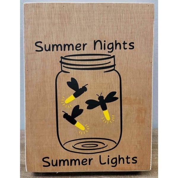 Rub-On Vinyl- Summer Night Fireflies