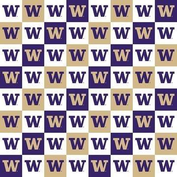 1 Yard College Cut Fabric, University of Washington Patch