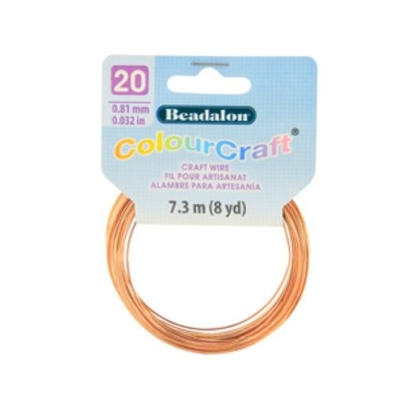 ColourCraft Wire- 20GA Copper Coil 8yd