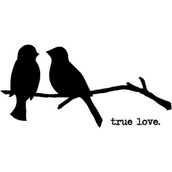 Rub-On Vinyl- True Love w/Birds