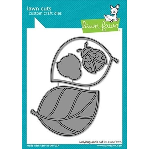 Lawn Fawn- Ladybug and Leaf Die Set