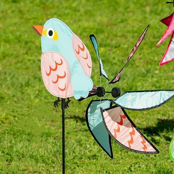 Pink/Blue Bird Wind Spinner