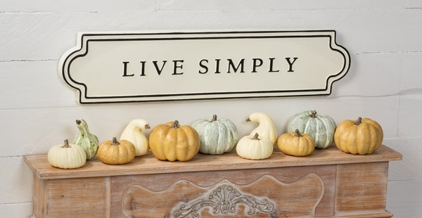 Iron Wall Decor- Live Simply