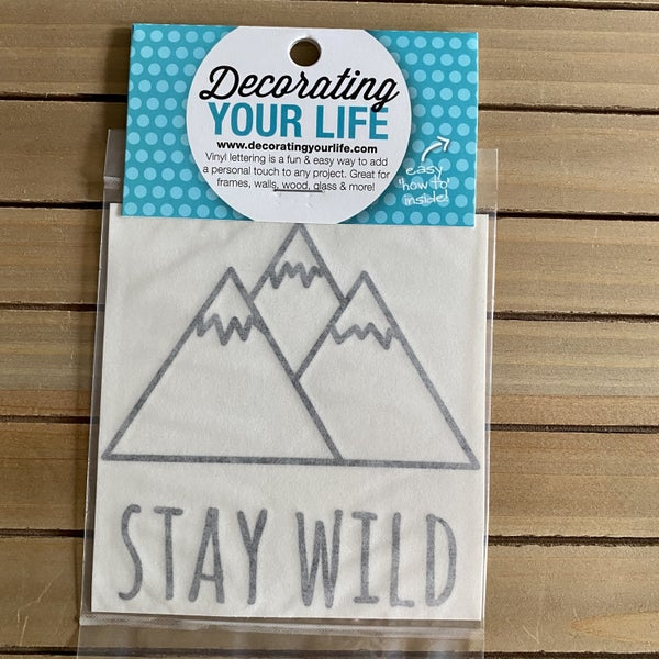 Stay Wild With Mountains, Vinyl Black