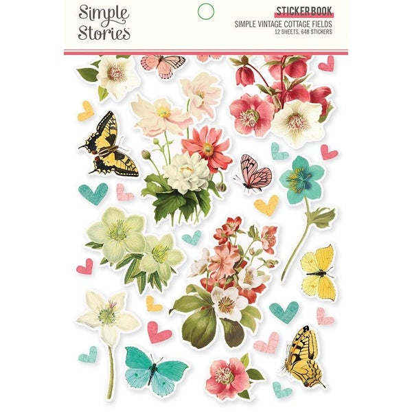 Simple Vintage Cottage Fields Collection Sticker Book