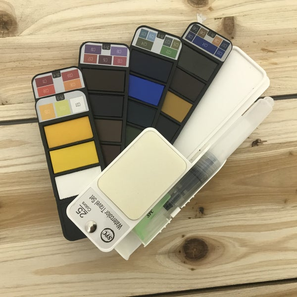 25 Color Watercolor Travel Set