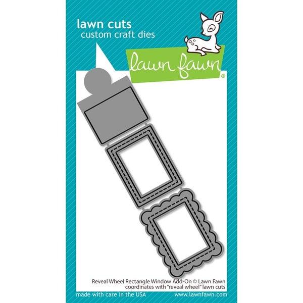 Lawn Fawn- Reveal Wheel Rectangle Window Add-On  Die Cuts
