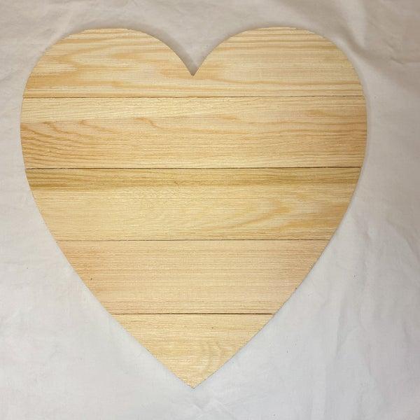 Heart Shape Wood Slat Board