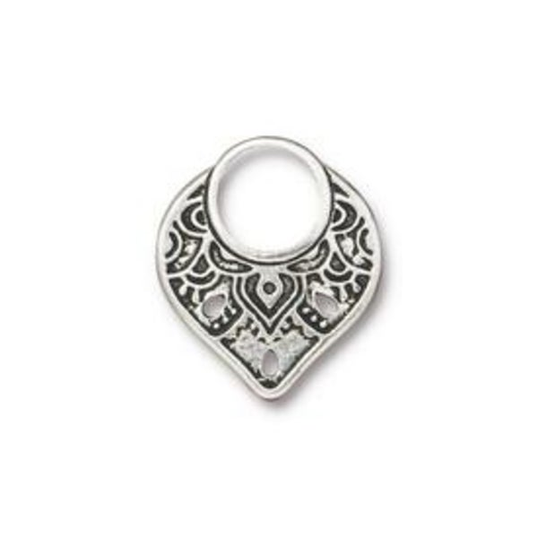 Temple Link, Antiqued Silver Plate- Tierra Cast