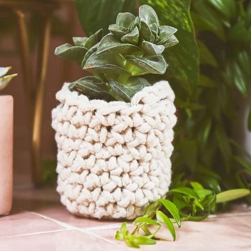 Crochet Mini Basket Craft Kit