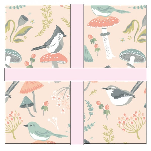 Woodland Songbirds 10 inch Layer Cake by Poppie Cotton