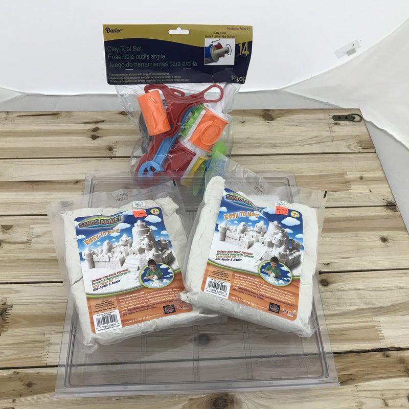 Sands Alive 2 Bag / Storage Container / 14 Piece Tool Set Bundle