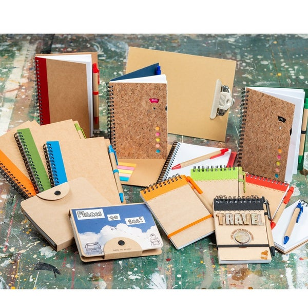 Assorted Kraft Notebooks (Spiral, Button Snap or Hardcover) starting at $1.44