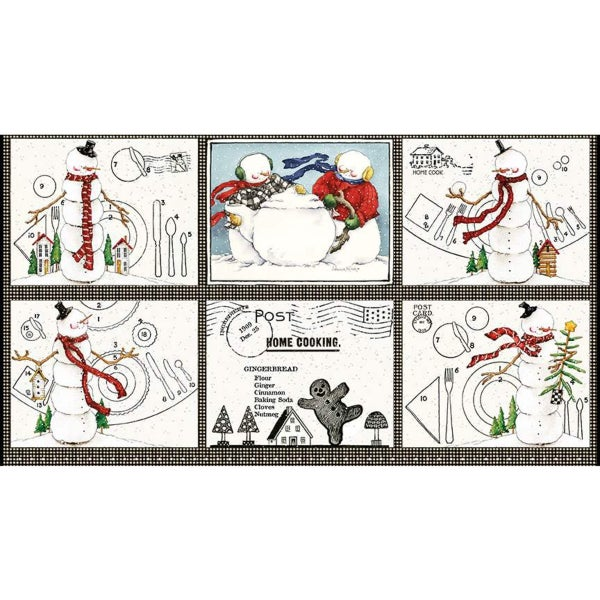Snow Sweet Placemat Fabric Panel