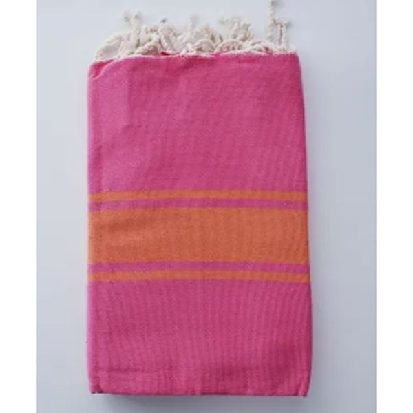 Traditional Fouta Pink & Orange