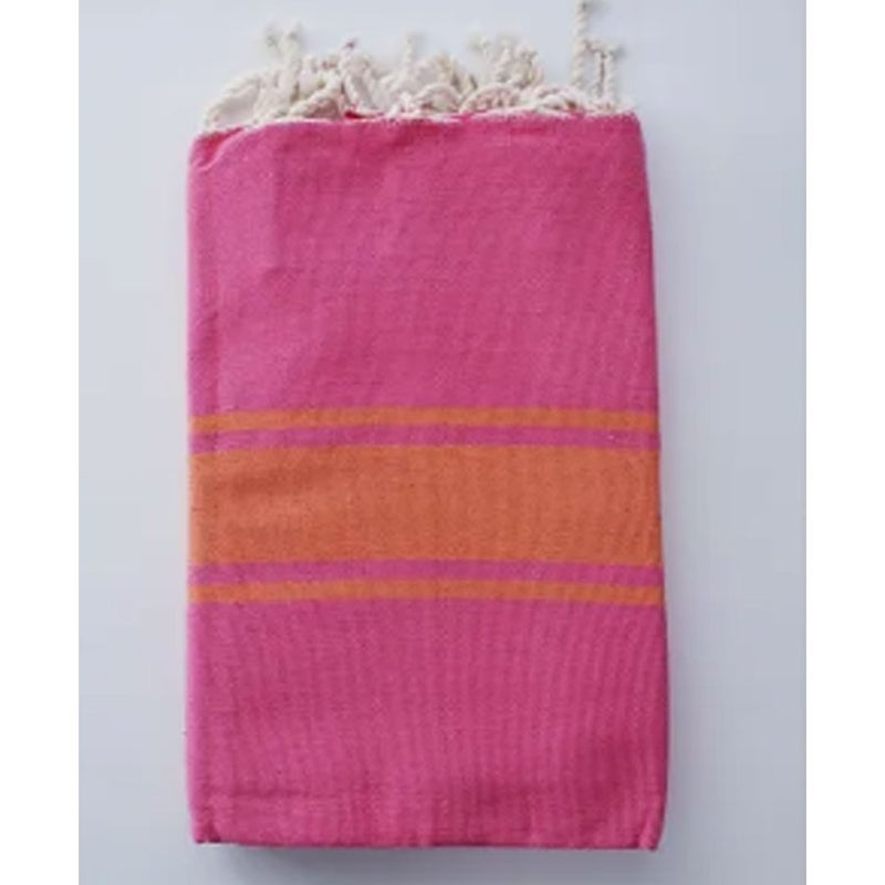 Traditional Fouta Pink & Orange