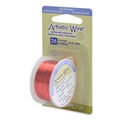 Artistic Wire- 26 Gauge Silver Plated, Tangerine, 15 yd