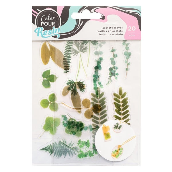 American Crafts - Mix-In Acetate Leaves by Color Pour Resin