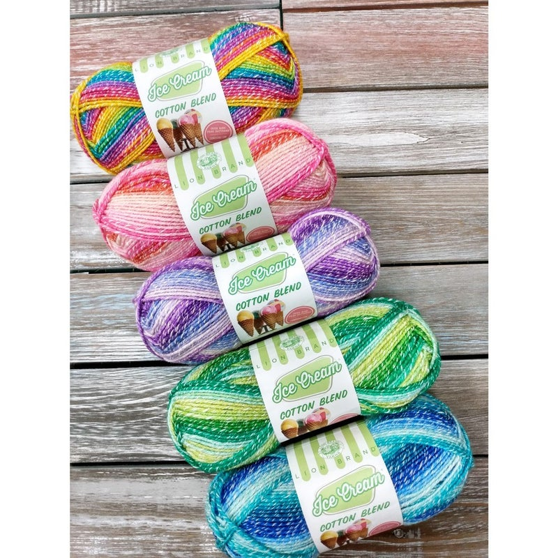 Ice Cream Cotton Blend Yarn by Lion Brand Yarns