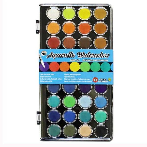 Niji Aquarelle Watercolor Set 36 colors