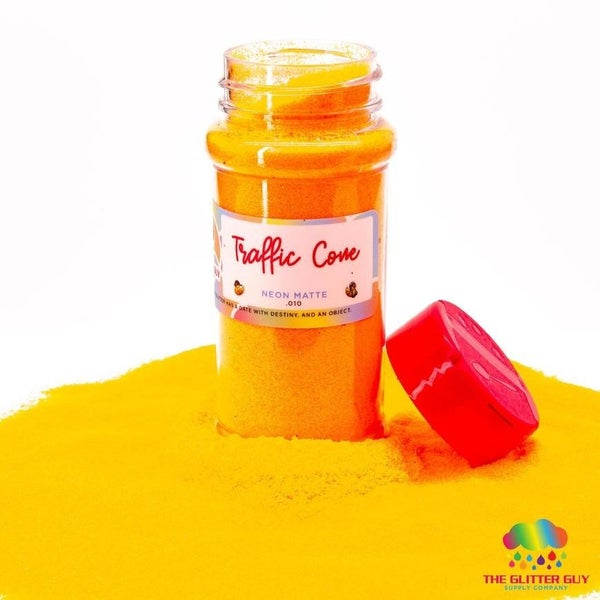 Traffic Cone Orange Matte Fine Glitter - The Glitter Guy
