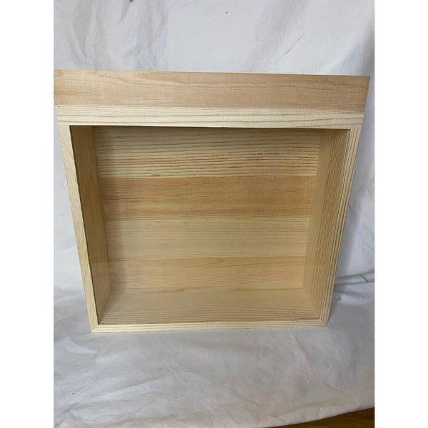 Slide Top Wood Shadow Box