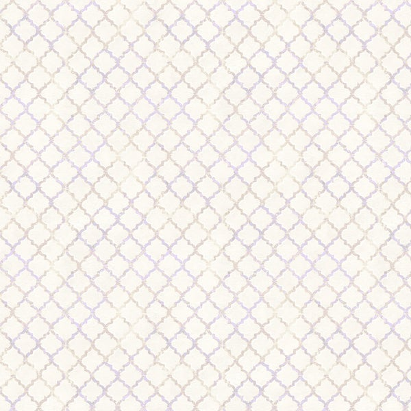 1 yard Cut - Flower Study Trellis Cream - Wilmington Fabrics