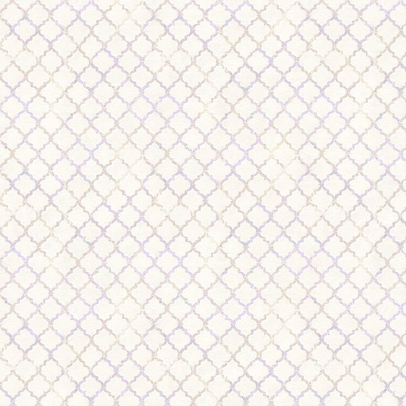 1 yard Cut - Flower Study Trellis Cream - Wilmington Fabrics