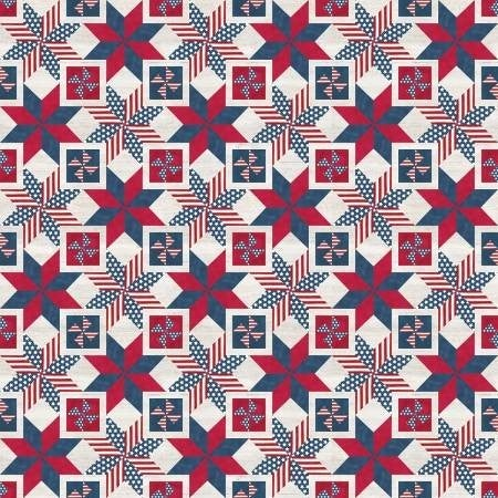 1 Yard Cut - Let Freedom Soar Quilt Blocks Multi - Riley Blake Designs