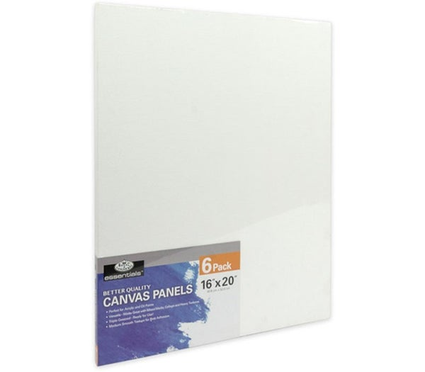 "16"" x 20"" 6/Piece Canvas Panel Bundle Pack"