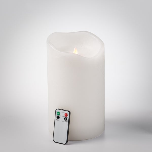 6 inch x 10 inch Pillar LED Candle with remote
