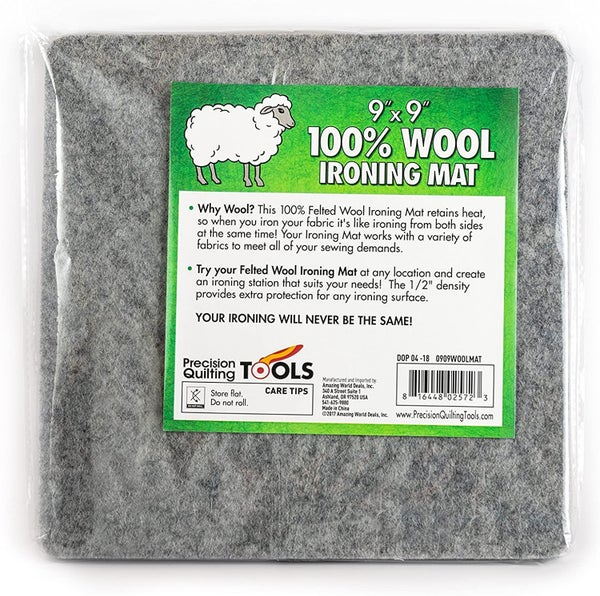 9 x 9 Wool Ironing Mat - 100% New Zealand Wool Pressing Mat