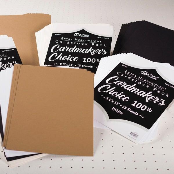 Cardmaker's Choice 100lb 8.5 x 11 Cardstock , 15 pcs