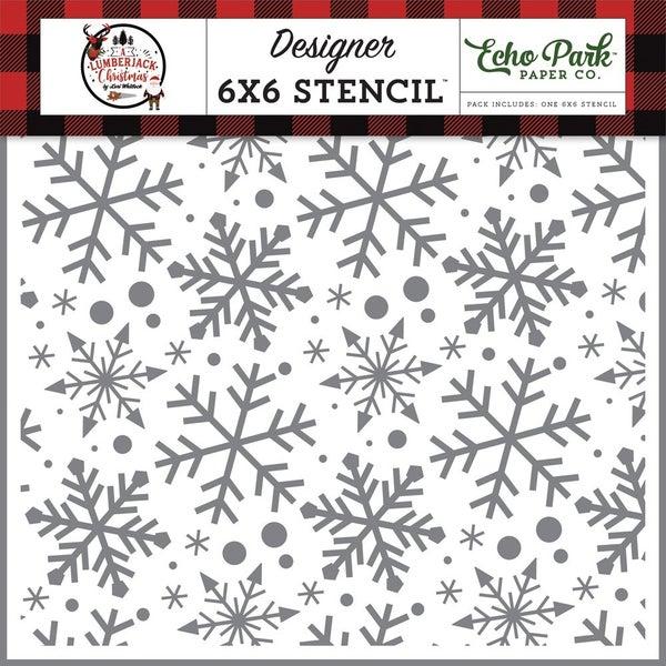 Echo Park- 6x6 Jingle Bell Snowflakes Stencil