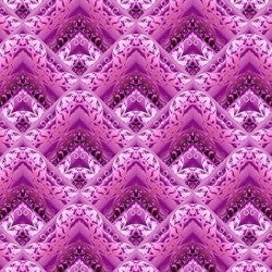 1 Yard Cut - Unicorns Fretwork Fushia - Jason Yenter - In the Beginning Fabrics